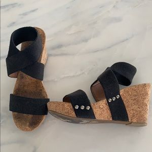Cork wedges! Lucky Brand